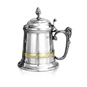 Personalised One Pint Pewter Churchill Tankard