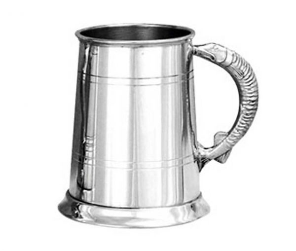 Personalised Pewter Tankard with Pike Handle