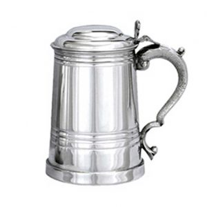 Personalised Pewter Tankard Stepped Lid
