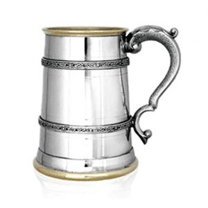 Kells Golden Personalised One Pint Pewter Tankard