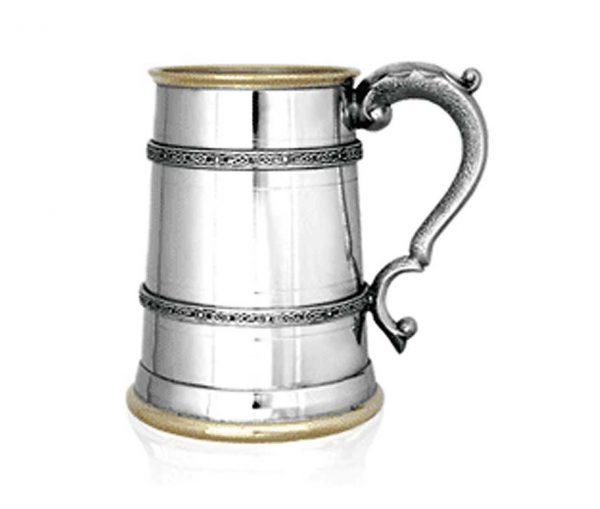 Kells Golden Personalised One Pint Pewter Tankard