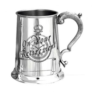 On Your Retirement' Personalised & Engraved Pewter Tankard