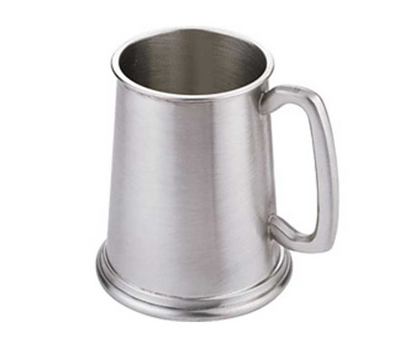Personalised Satin Finish One Pint Pewter Tankard
