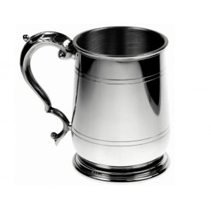 Personalised One Pint Pewter Cavalier Tankard