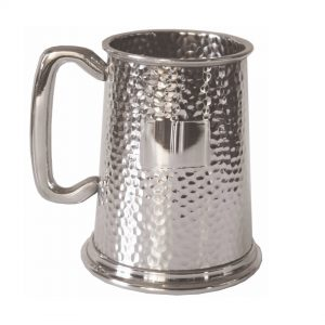 Personalised Hammered Pewter Tankard