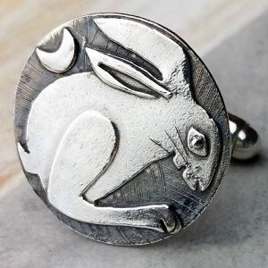 Country Hare Silver Cufflinks