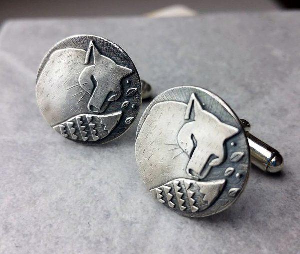 Woodland Fox Silver Cufflinks
