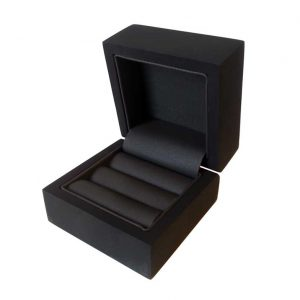 Gloss Black Double Wedding Ring Box