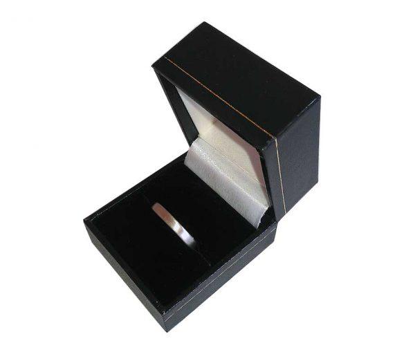 Black Flip Top Single Wedding Ring Box