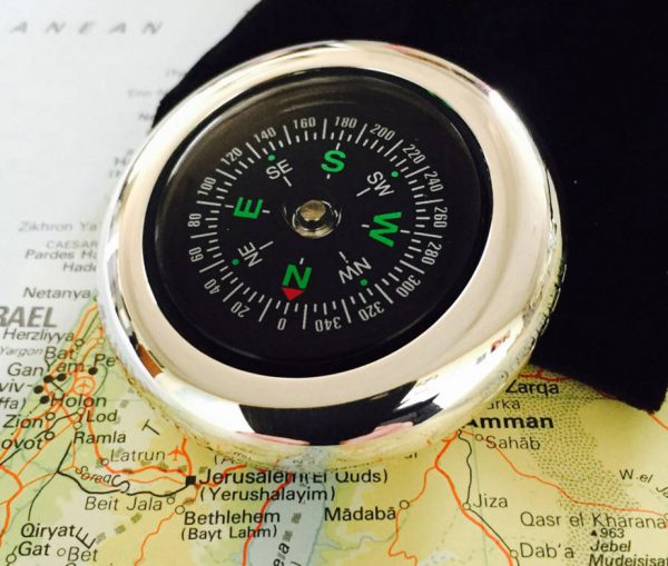 Personalised Silver Wanderlust Compass