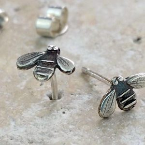 Anna's Silver Bumble Bee Stud Earrings