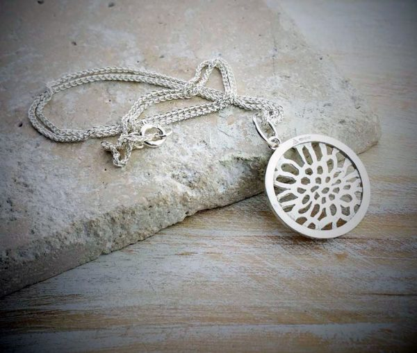 Sea Of Life Silver Charm And Necklace