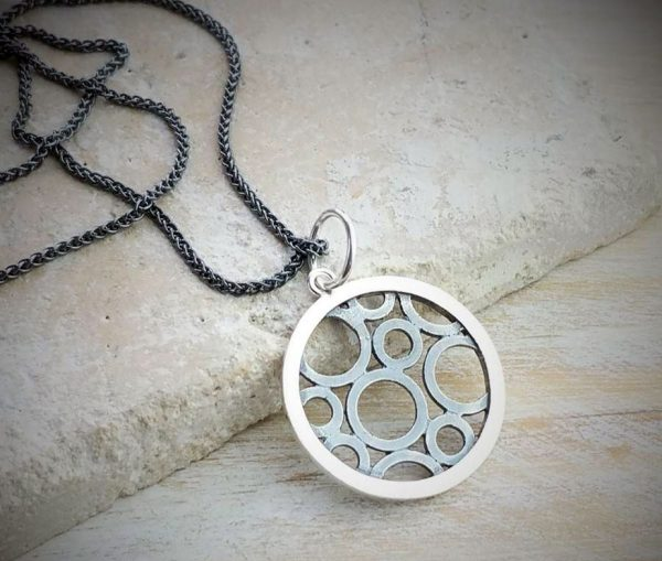 Circles Within A Circle Charm And Necklace