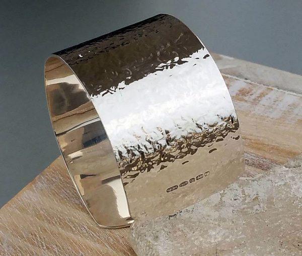 Personalised Ladies' Hellenic Hammered Silver Bracelet