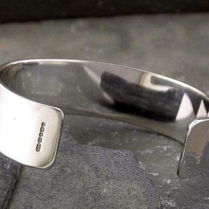 Personalised Ladies' Silver Roman Servus Cuff Bracelet