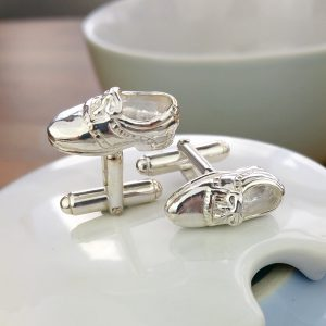 Silver Golf Shoe Cufflinks