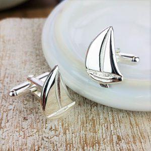 Sterling Silver Sailing Boat Cufflinks