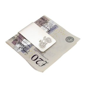 Personalised Large Silver Bicycle Money Clip