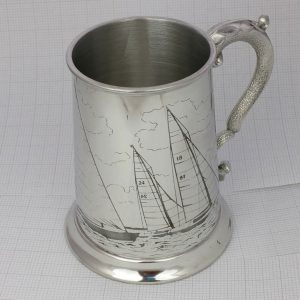 Personalised Sailing Club Tankard