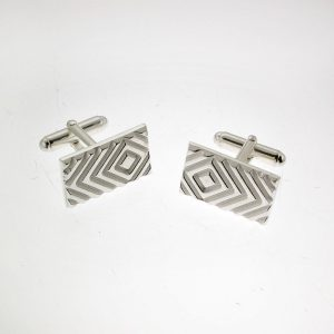 Silver Doppler Effect Cufflinks