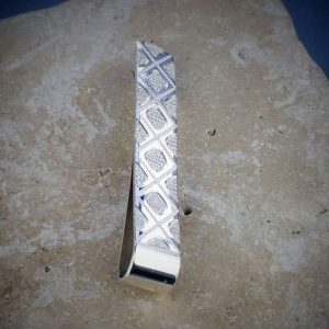 Personalised Regal Silver Tie Slide