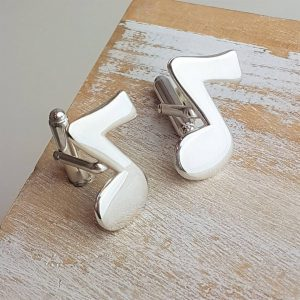 Silver Eighth Note Cufflinks