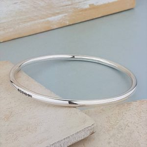 The Moment In Time Personalised Silver Bangle