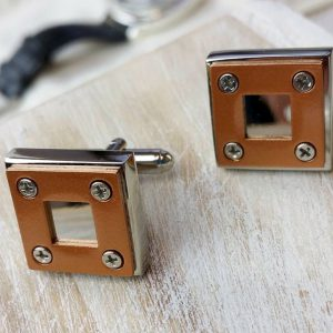 Personalised Industrial Design Cufflinks with FREE Engraving