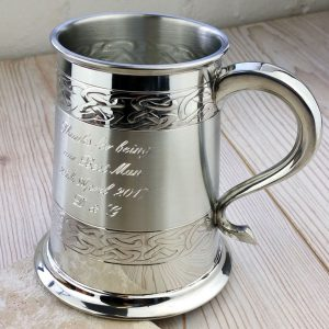 Personalised Wedding Tankard Ideal For Groom, Best Man & Ushers