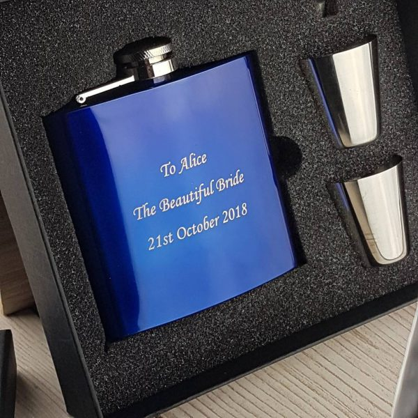 Something Borrowed, Something Blue Wedding Hip Flask